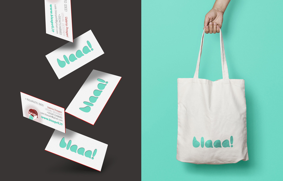 Blaaa_FallingBusinessCards_TOTEBAG